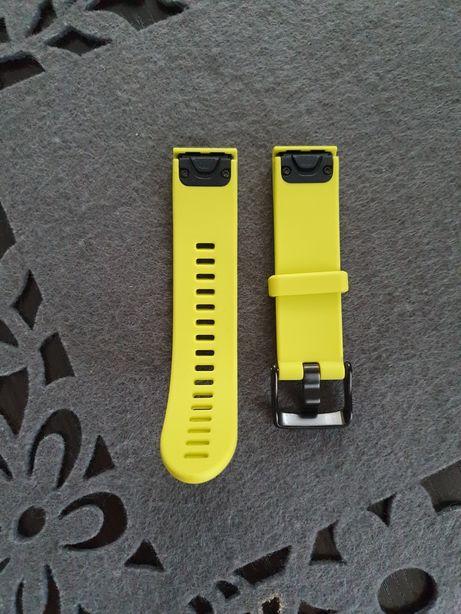 Nowy Garmin pasek QuickFit 20 do Fenix 5s Limonkowy Silikonowy