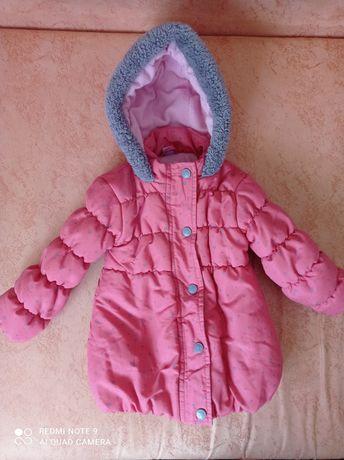 Детская куртка для девочки весна-осень демисезонная 86см 1-2 года