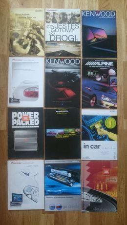 Stare katalogi sprzętu audio Pioneer, JBL i inne