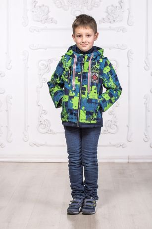 Демісезонна куртка-жилетка для хлопчиків (104 – 122 см)
