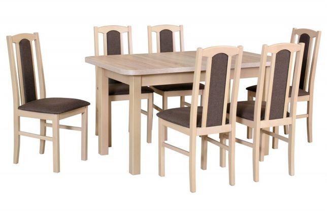 Stół z krzesłami 6 krzeseł plus stół DX15 Stół 140/180 cm. 24 godziny