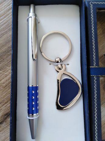 Prezent zestaw długopis plus brylok opakowanie z kokardą