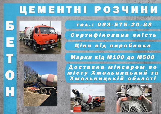 Доставка бетону та цементних розчинів