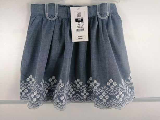 Dziewczynka. 116/122 spódniczka kwiaty nowa Ala jeans cool club