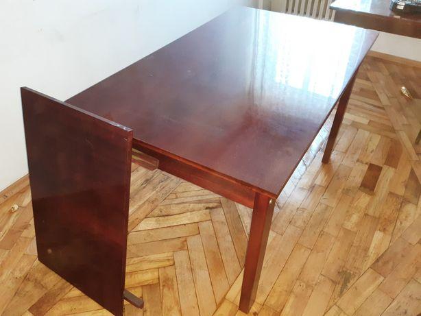 Stary stół rozkładany w komplecie z 6 krzesłami
