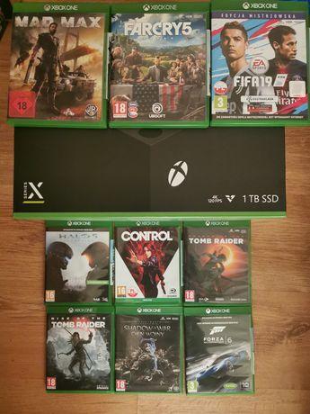 Xbox series x 1tb SSD, jak nowy, gwarancja, 9 gier