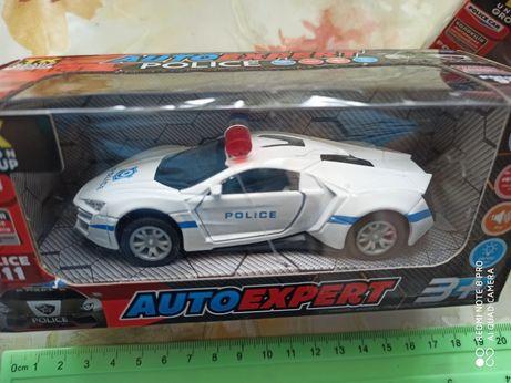 Полицейская машинка машина металлопластик металлическая Auto expert