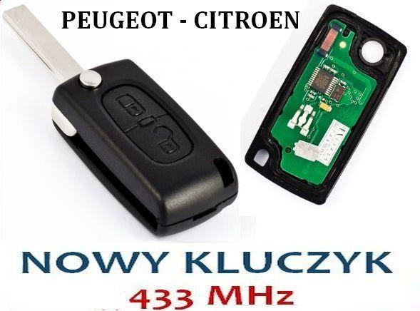 Nowy Kluczyk PEUGEOT 207,307,407 Partner CITROEN C2 C3 C4 C5 Berlingo