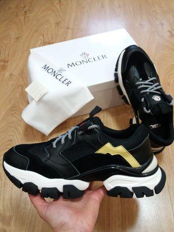 Moncler 42 43 44 мужские кроссовки кожаные монклер чоловічі кросівки