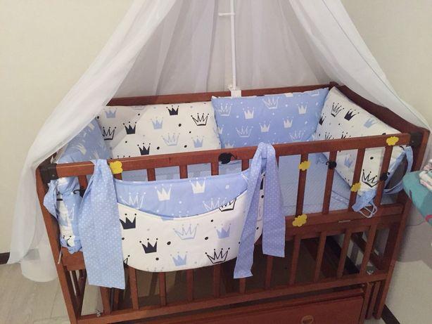 Новый балдахин на кроватку с держателем и одеялом, подушками