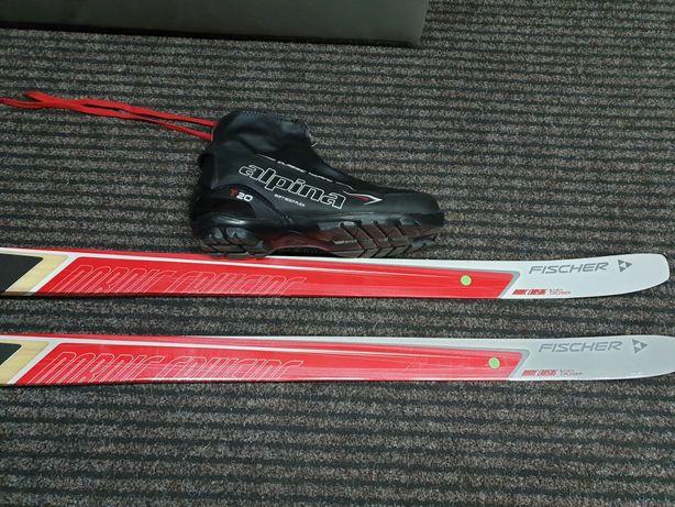 Narty biegowe Fischer XL 189cm biegówki z butami Alpina