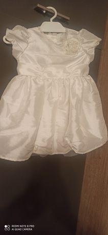 Zestaw na chrzest  sukienka 68 plus sweterek