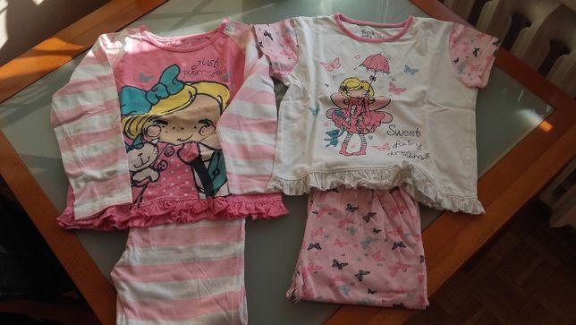Dwupak bawałnianych piżamek 122 cena za 2 sztuki