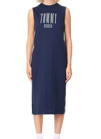 Sukienka midi Tommy Jeans Hilfiger r. S długa