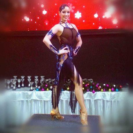 платье для бальных танцев латина 160-170см