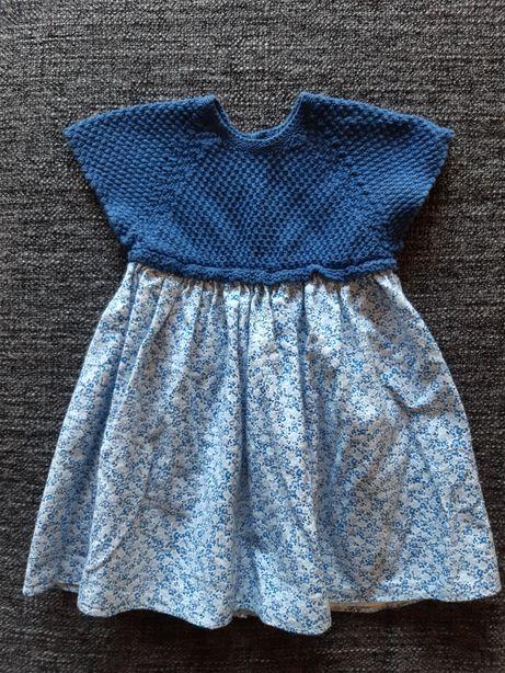 Vestido Wedoble azul - tamanho 3m