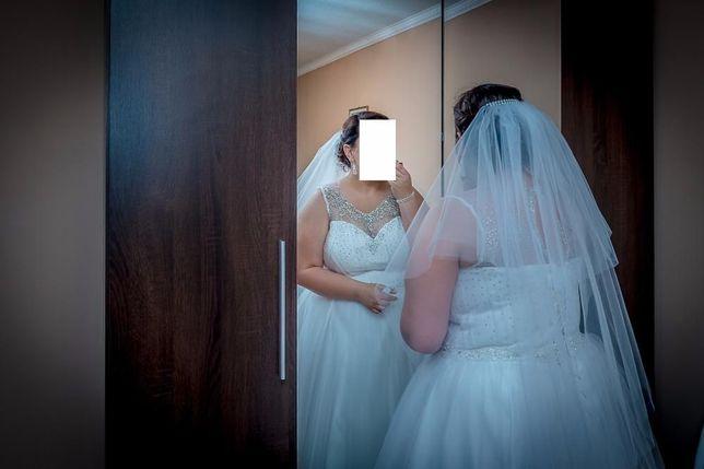 Suknia ślubna princessa rozm. 46 +bolerko +welon