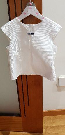 Vendo blusa branca tamanho 4 da Jacadi em excelente estado