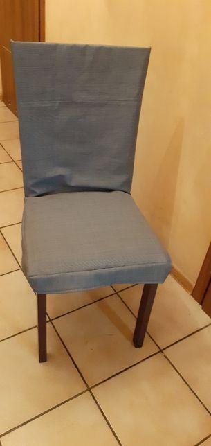 Szare pokrowce pokrowiec okrycie na krzeslo