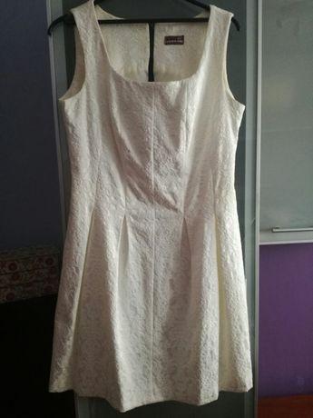 Sukienka 42 ecrue biała