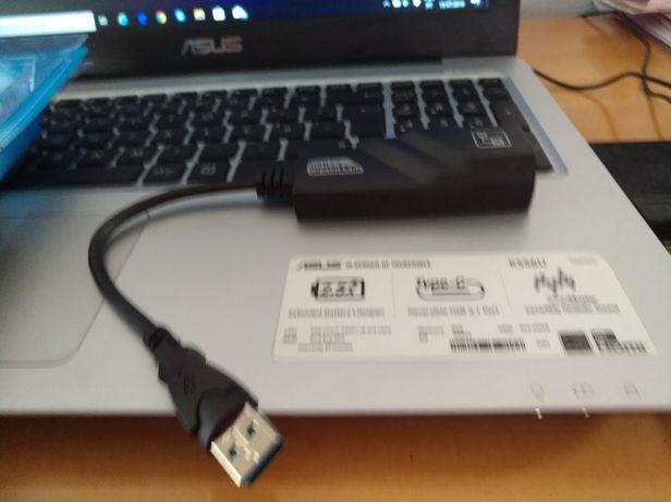 Adaptador USB 3.0 p/ rj45 c/ placa de rede incluída