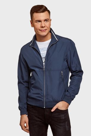 Мужская темно-синяя ветровка Zara , Размер L