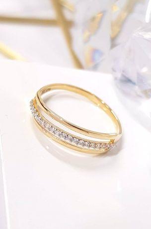 Nowy złoty pierścionek próba 333 8k
