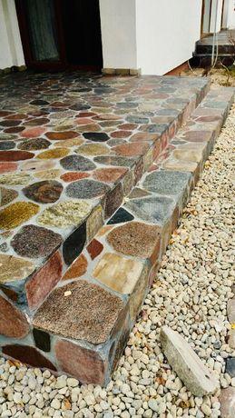 Kamień polny cięty-plastry; płytki kamienne; tarasy;schody