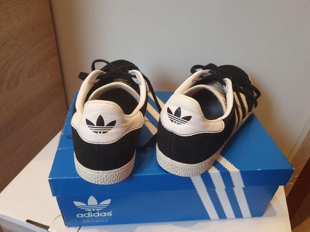 Buty obuwie sportowe ADIDAS czarno-białe, kartonik.