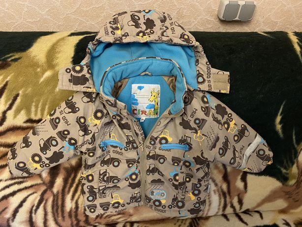 Красивая куртка на мальчика 12-18 мес