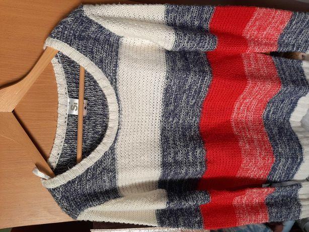Sweter trzykolorowy