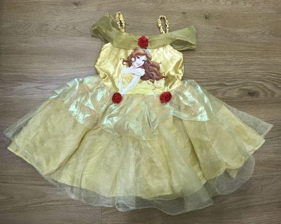 Карнавальное платье принцессы Бель на 3-4 года Disney