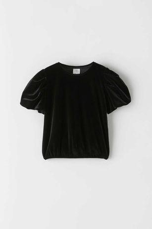 ZARA bluzka top aksamit 140