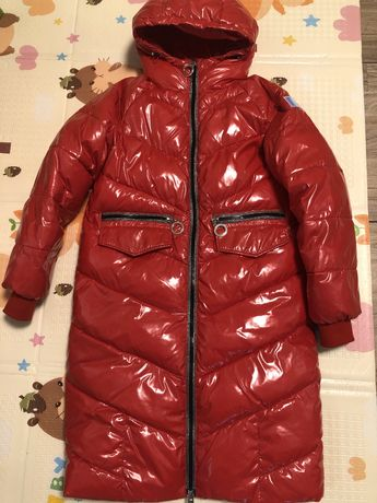 Яркое Зимнее пальто, длинная курткая Kiko 152р XS-S
