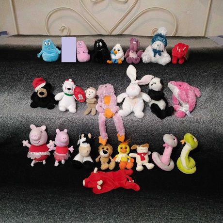 Мягкие игрушки дельфин мишка обезьянка панда бык лев цыпленок зайчик