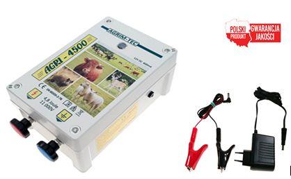 Elektryzator pastuch uniwersalny 12/230V AGRI 4500 4,8J dziki +GRATIS
