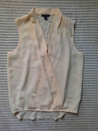 Bluzka kremowa zakladana NewYorker