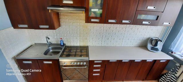 Zestaw mebli kuchennych komplet regał kuchenka okap lodówka