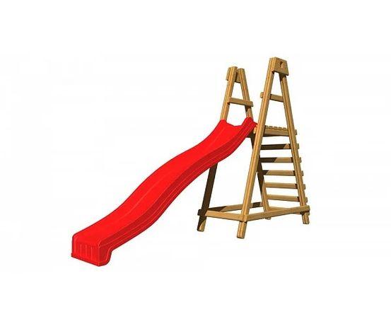 Детская деревянная площадка Play Baby с горкой 3 метра Красный