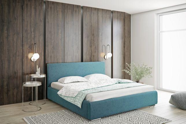 Łóżko tapicerowane sypialniane Łoże małżeńskie STELAŻ POJEMNIK gratis!