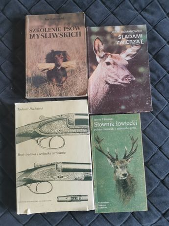 Książki o łowiectwie, zestaw 4 sztuk