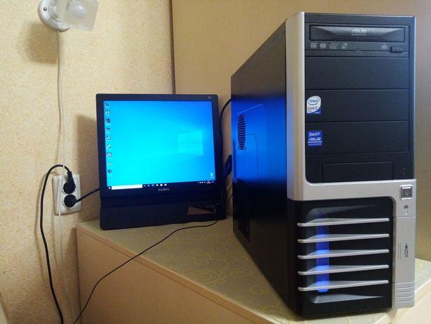 ПК для учёбы/2 ядра/ОЗУ 4Gb/GT220 1Gb/SSD 120Gb