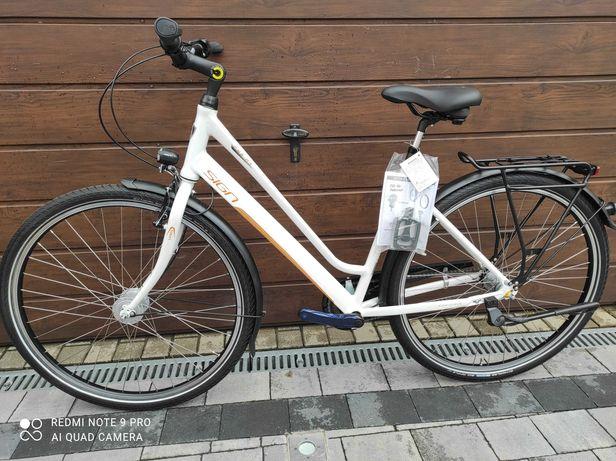Rower damski miejski 28 NOWY aluminium 3 Nexus prądnica