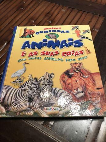 Livro Janelas Curiosas Animais e as Suas Crias