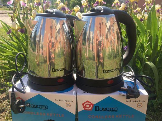 Электрический чайник Domotec (2л) DM-0555, металлический чайник