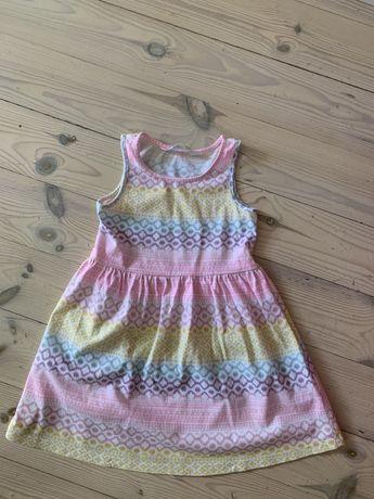 H&M nowa tęczowa sukienka 98/104
