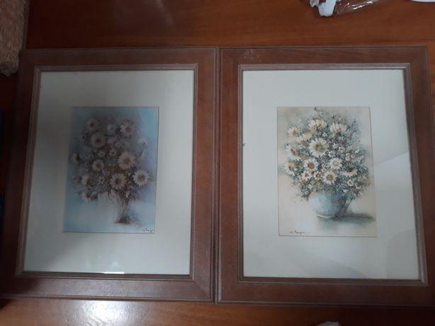 Quadro de parede Antigo - Flores