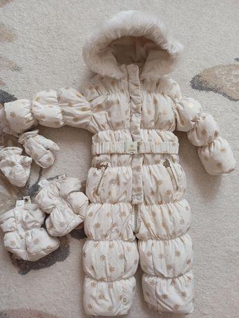 Зимний комбинезон пуховик на пуху Chicco 12-18 месяцев