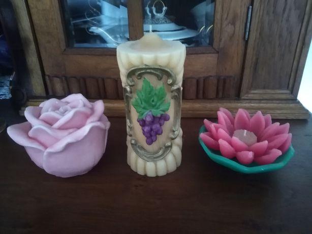 Świeca świece ozdobna kwiat lotosu róża winogron handmade