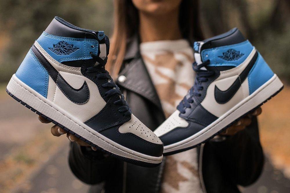 Женские кроссовки Nike Air JORDAN 1 RETRO Blue / Найк Джордан Ретро Харьков - изображение 1